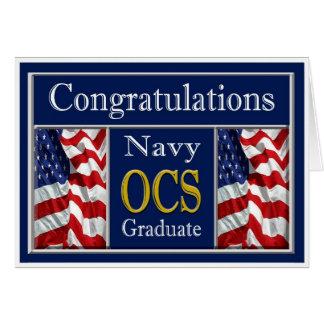 Tarjeta militar de la enhorabuena de la graduación