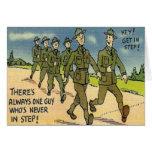 Tarjeta militar de la formación básica del vintage