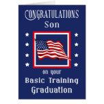 Tarjeta militar de la graduación de la formación b