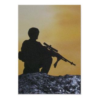 Tarjeta, militar de la invitación