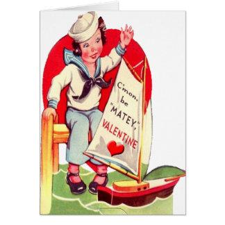 Tarjeta militar de la tarjeta del día de San Valen