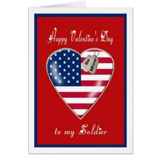 Tarjeta militar del el día de San Valentín a mi so