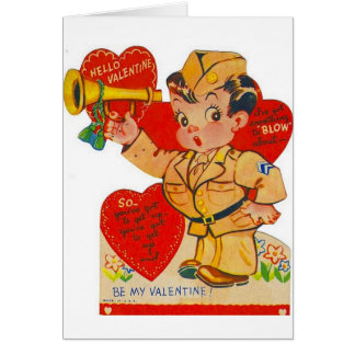 Tarjeta militar del el día de San Valentín del cla