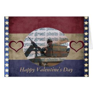 Tarjeta militar del marco de la foto de la tarjeta