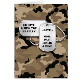 Tarjeta militar del tema