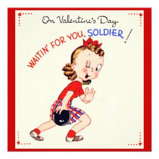 Tarjeta militar retra del el día de San Valentín d Comunicados Personales