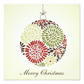 Tarjeta mínima del navidad invitaciones personalizada