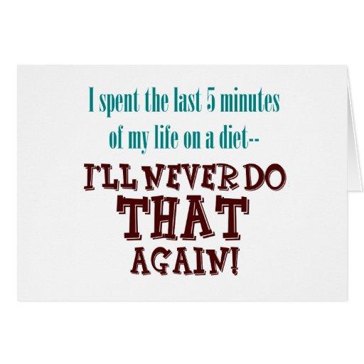 Tarjeta minuciosa de la dieta 5