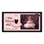 Tarjeta minúscula de la foto del ballet del bailar tarjetas fotográficas