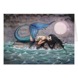Tarjeta minúscula de la sirena de la isla