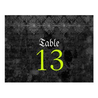 Tarjeta misteriosa del número de la tabla del boda postales