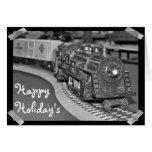 Tarjeta modelo del tren del día de fiesta feliz