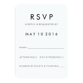 "Tarjeta moderna de Futura RSVP Invitación 3.5"" X 5"""