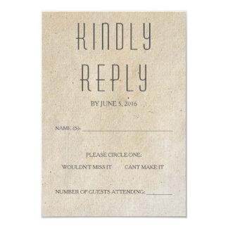 "Tarjeta moderna de Huxley RSVP Invitación 3.5"" X 5"""