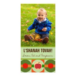 Tarjeta moderna de la foto de Apple Rosh Hashanah Tarjeta Fotografica Personalizada