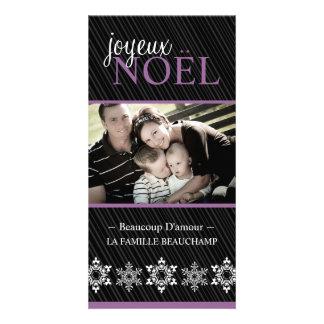 "Tarjeta moderna de la foto de ""Joyeux Noel"" Tarjetas Con Fotos Personalizadas"