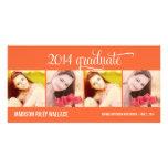 Tarjeta moderna de la foto de la invitación de la  tarjeta personal con foto