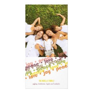 Tarjeta moderna de la foto de los saludos de la tarjeta fotografica