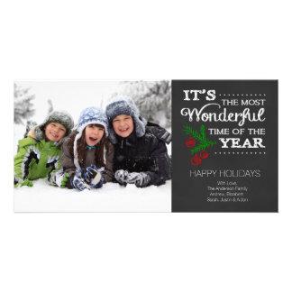 Tarjeta moderna de la foto del día de fiesta de la tarjetas con fotos personalizadas