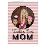 Tarjeta moderna de la foto del día de madres de la