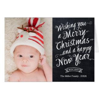 Tarjeta moderna de la foto del navidad de la escri
