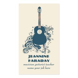 tarjeta moderna de la industria musical de la guit plantillas de tarjeta de negocio