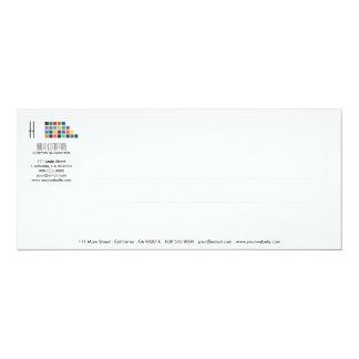 Tarjeta moderna de la invitación de la serie No.1 Invitación 10,1 X 23,5 Cm