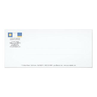 Tarjeta moderna de la invitación de la serie No.10 Invitación 10,1 X 23,5 Cm