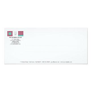 Tarjeta moderna de la invitación de la serie No.11 Invitación 10,1 X 23,5 Cm