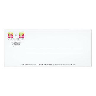 Tarjeta moderna de la invitación de la serie No.13 Invitación 10,1 X 23,5 Cm