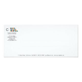 Tarjeta moderna de la invitación de la serie No.15 Invitación 10,1 X 23,5 Cm