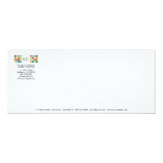 Tarjeta moderna de la invitación de la serie No.22 Invitación 10,1 X 23,5 Cm