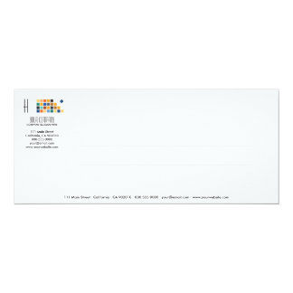 Tarjeta moderna de la invitación de la serie No.3 Invitación 10,1 X 23,5 Cm