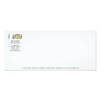 Tarjeta moderna de la invitación de la serie No.4 Invitación 10,1 X 23,5 Cm