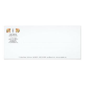 Tarjeta moderna de la invitación de la serie No.7 Invitación 10,1 X 23,5 Cm
