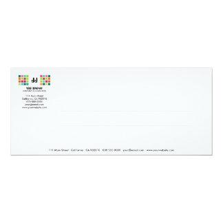 Tarjeta moderna de la invitación de la serie No.9 Invitación 10,1 X 23,5 Cm