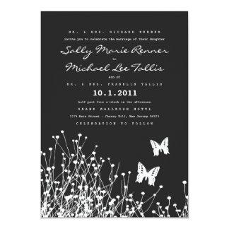 Tarjeta moderna de la invitación de las mariposas