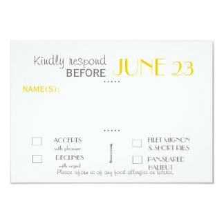 """Tarjeta moderna de la respuesta de la habitación invitación 3.5"""" x 5"""""""