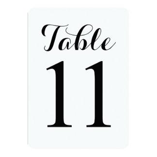 Tarjeta moderna de los números de la tabla del invitación 12,7 x 17,8 cm