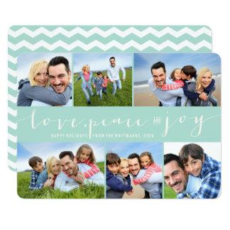 """Tarjeta moderna del collage de la foto del día de invitación 5"""" x 7"""""""