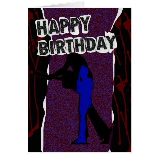 Tarjeta moderna del feliz cumpleaños, punk retro