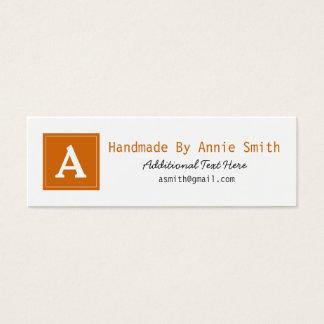 Tarjeta moderna del negocio, hecha a mano, y del tarjetas de visita mini