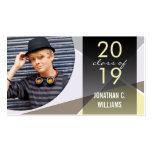 Tarjeta moderna elegante del perfil de la foto de tarjetas de visita