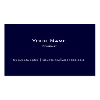 Tarjeta moderna llana del azul marino y blanca de  tarjeta de visita