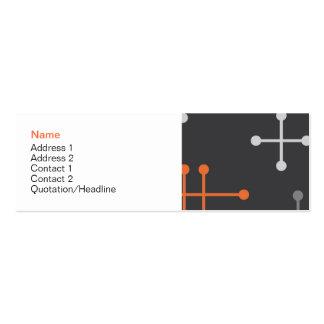 Tarjeta moderna retra del perfil del modelo tarjetas de visita mini
