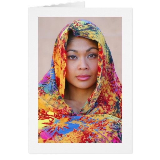 Tarjeta, MONALIZA con la bufanda