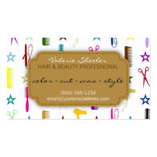 Tarjeta multicolora de la cita de la belleza del p plantillas de tarjeta de negocio
