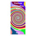 Tarjeta multicolora del estante de la señal del re tarjetas publicitarias