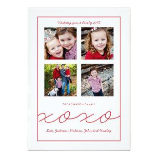 """Tarjeta múltiple de la foto de familia del el día invitación 5"""" x 7"""""""