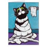 Tarjeta Mummified del gato